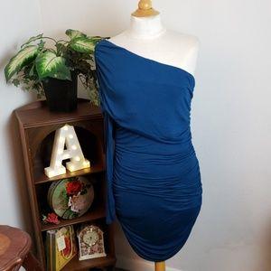 🚨NEW LIST! Body Central Blue One Shoulder Dress